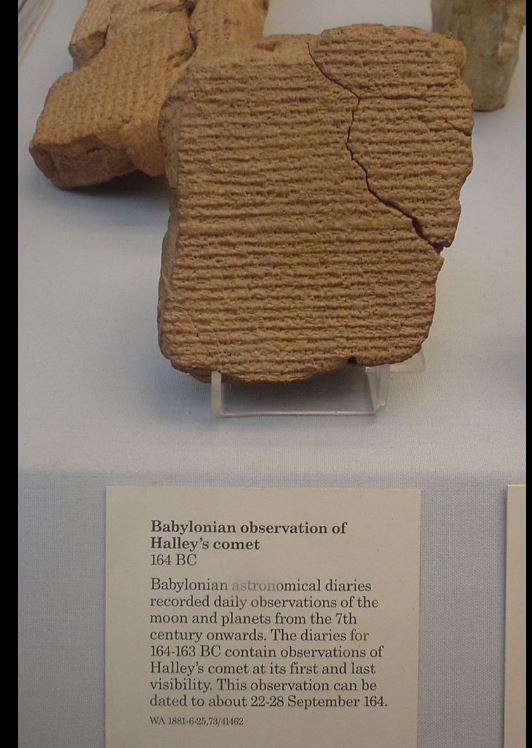 Babylonian record of Halley's comet in 164BC
