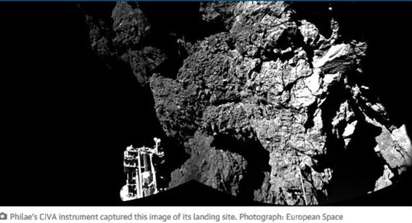 European Space Agency craft Philae on Comet 67P.