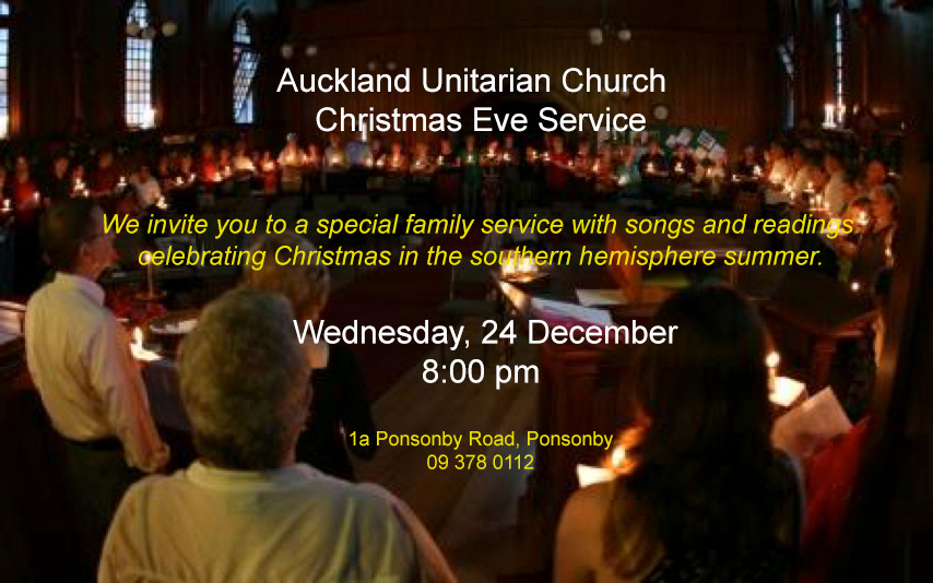 Christmas Eve Candlelight Service @ Auckland Unitarian Church | Auckland | Auckland | New Zealand