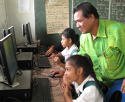 Steps programme in action at two of the pilot primary schools in Apia – February 2014