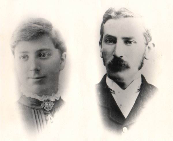 Annie and Charles Newland, founding members of the church in 1898.
