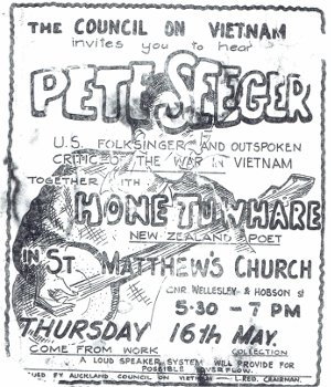 HoneTuwhare, PeteSeeger Concert Ticket