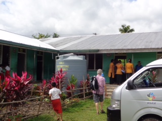 Paul, Gary and Brenda visiting primary schools in Samoa, August 2015
