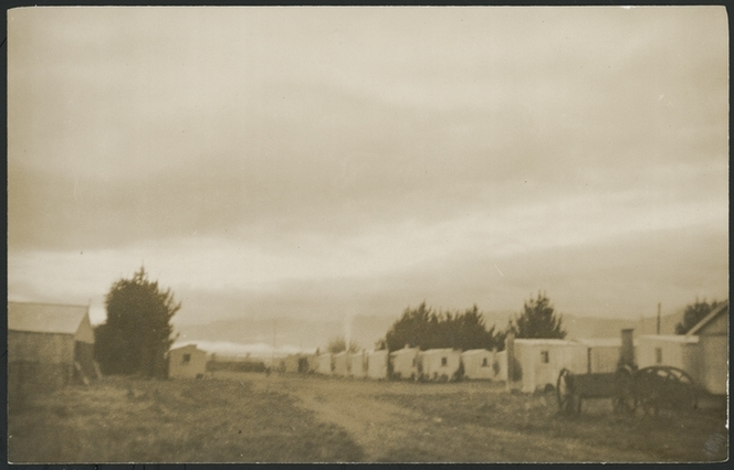 Whenuaroa (Strathmore) Detention Camp. Hansen, Dan, d 2006 :Photographs relating to the imprisonment of Harold and Owen Hansen as conscientious objectors. Ref: PAColl-9142-16. Alexander Turnbull Library, Wellington, New Zealand. http://natlib.govt.nz/records/22718746