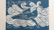 """Ocean Journeys"" 27x41cm Foam backed prints $80 (One framed print option $150). Artist: Rebecca Faull."
